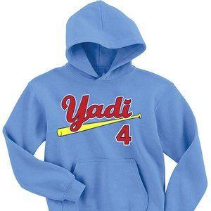 Yadi Molina St Louis Cardinals ADULT SMALL HOOD